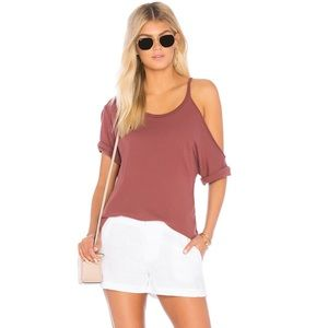 Revolve Slater One Shoulder Tee in Allure